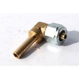 Переходник соединительный угловой+гайка+ниппель разрезной для термопластиковой трубки D8