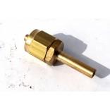 Переходник соединительный прямой+гайка+ниппель разрезной для термопластиковой трубки D6